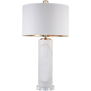 Dimond White Embossed Oval Lamp