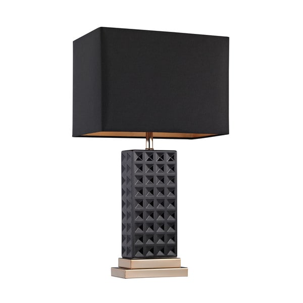Dimond Black Stud Ceramic Lamp
