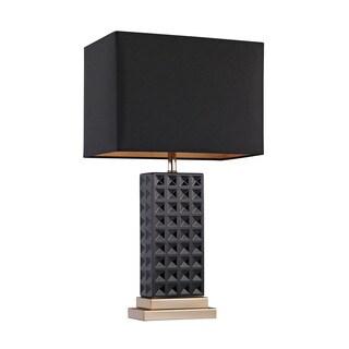 Dimond Black Stud Ceramic Lamp
