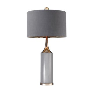 Dimond Tall Gold Cone Neck Lamp