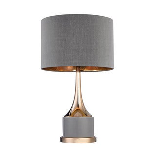 Dimond Small Gold Cone Neck Lamp