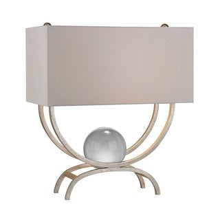 Dimond Chelsea Floating Crystal Ball Silver Leaf Table Lamp