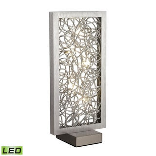 Dimond Basinger Abstract Metalwork LED Silver Table Lamp