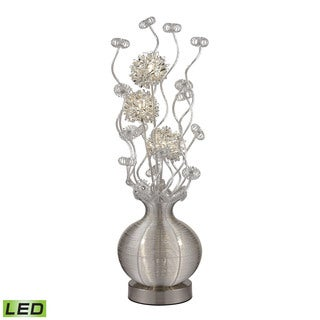 Dimond lazelle contemporary floral display silver floor for Overstock silver floor lamp