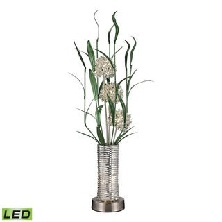 Dimond Windbear Contemporary Floral Display Silver Floor Lamp