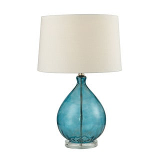 Dimond Wayfarer Glass Teal Table Lamp