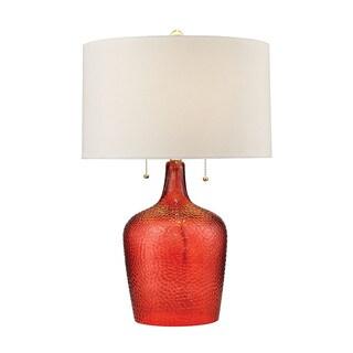 Dimond Hatteras Hammered Glass Blood Orange Table Lamp