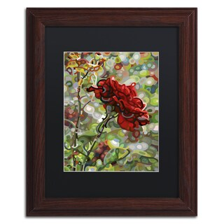 Mandy Budan 'Last Rose Of Summer' Wood Framed Canvas Art