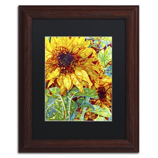 Mandy Budan 'Summer In The Garden' Wood Framed Canvas Art