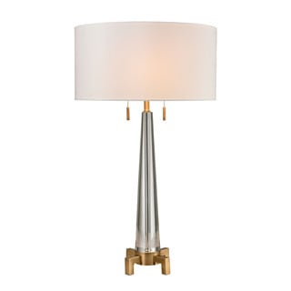 Dimond Bedford Solid Crystal Aged Brass Table Lamp