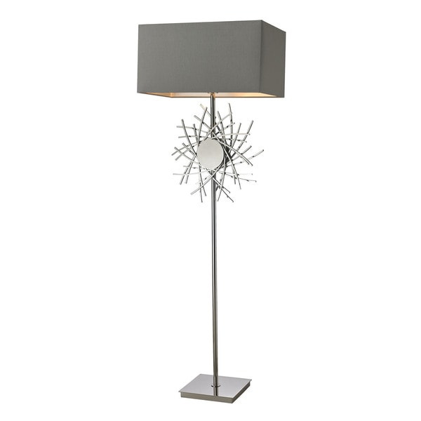 Dimond Cesano Abstract Formed Metalwork Polished Nickel Floor Lamp