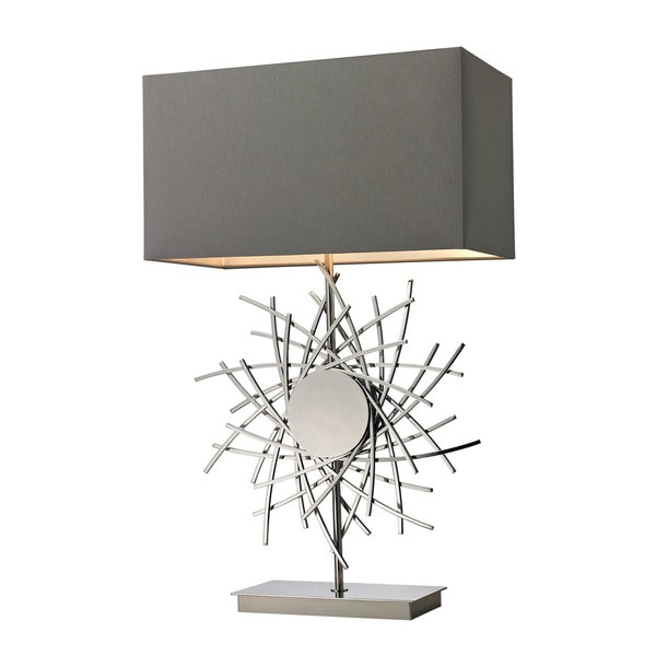 Dimond Cesano Abstract Formed Metalwork Polished Nickel Table Lamp - Silver/Grey