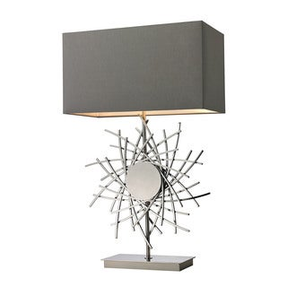 Dimond Cesano Abstract Formed Metalwork Polished Nickel Table Lamp