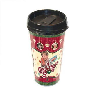 A Christmas Story 16-ounce Plastic Travel Coffee Mug