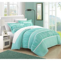 Chic Home Elizabeth Pleats and Ruffled 7-piece Duvet Cover Set with Sheet Set