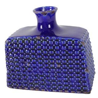 Blue Byron 10-inch Ceramic Vase