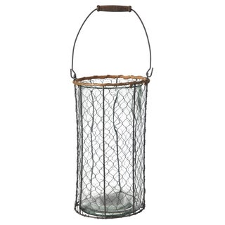 Clear Tall Wire Basket Candle Holder (Set of 3)
