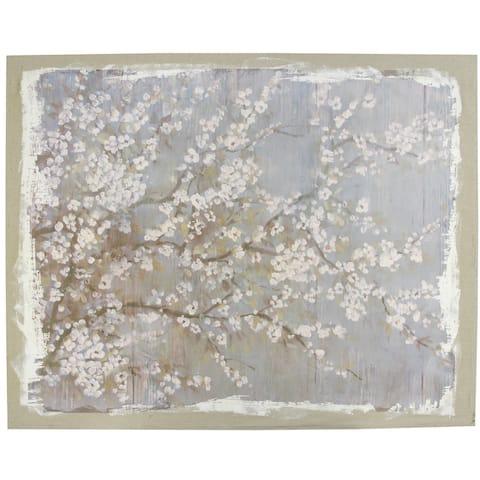 A&B Home White Cherry Blossoms Wall Art