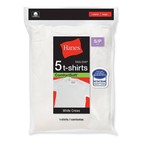 Hanes Boy's Crewneck Undershirt (Pack of 5)