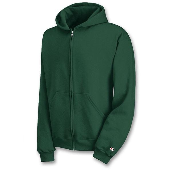 Champion Boys Double Dry Fleece Full Zip Hooded Sweatshirt