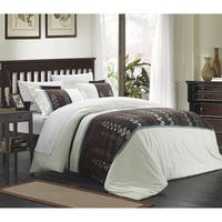 Chic Home Vidonia Embroidered Florals 7-piece Duvet Set with Sheet Set