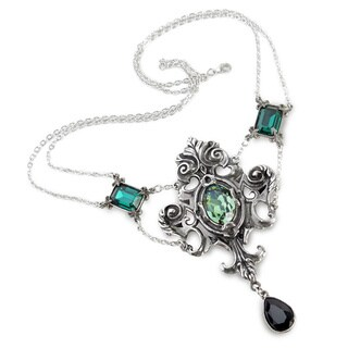 English Pewter Necklace with Crystalss Queen of The Night Necklace