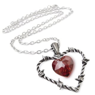 English Pewter with Crystals Love Imprisoned Necklace