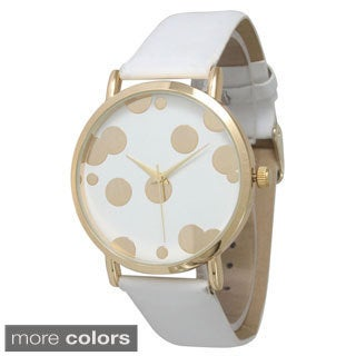 Olivia Pratt Women's Polka Dot Gold Bubble Watch