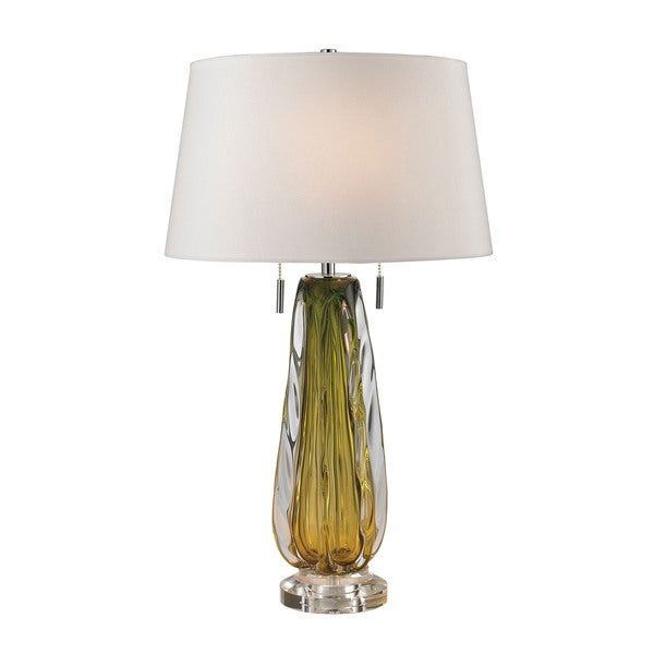 Dimond Modena Free Blown Glass Green Table Lamp