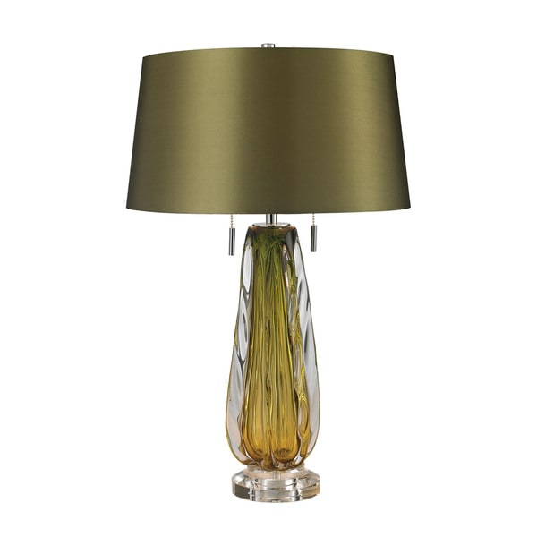 Dimond Modena Blown Glass Green Table Lamp