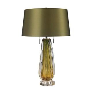 Dimond Modena Blown Glass Green Table Lamp