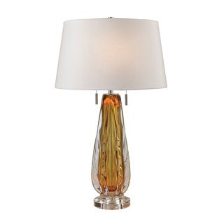 Dimond Modena Free Blown Glass Amber Table Lamp