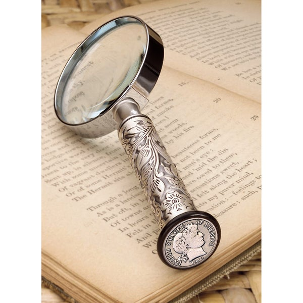 American Coin Treasures Silver Barber Dime Magnifying Glass