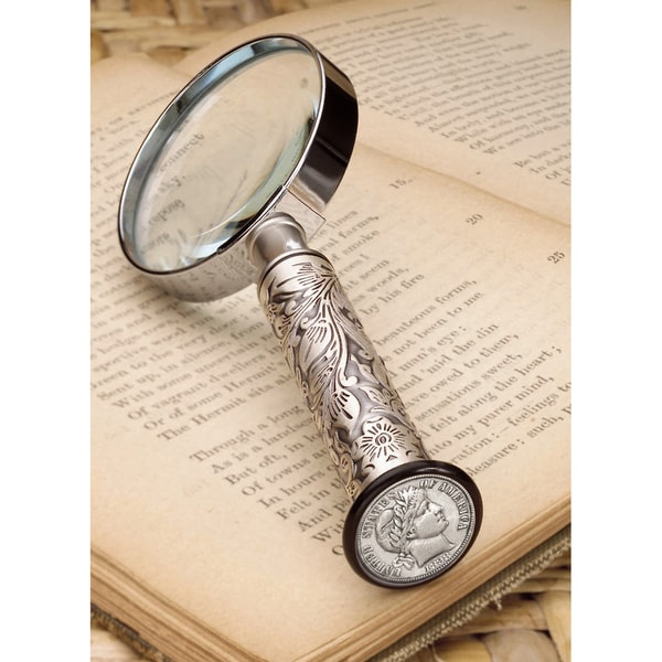 American Coin Treasures Silver Barber 1800s Dime Magnifying Glass