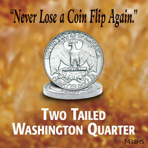 American Coin Treasures Washington Quarter Two Sides Tails