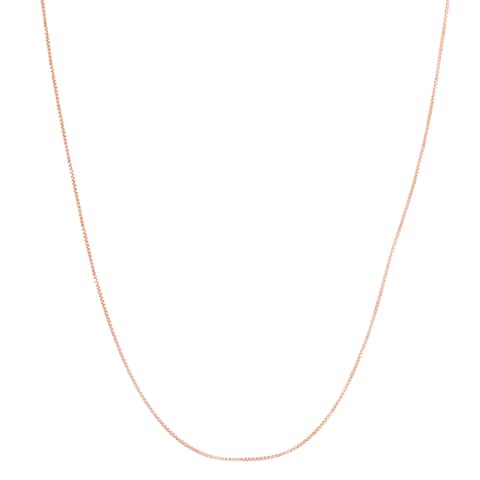 Gioelli 10k Rose Gold Box Adjustable Chain Necklace