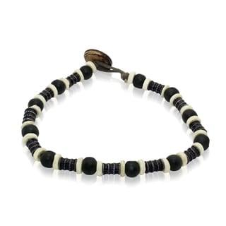Gioelli Barrel Black Bead Bracelet
