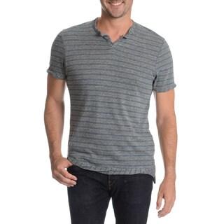 Alternative Men's Cut Neckline Twisted Hem T-Shirt