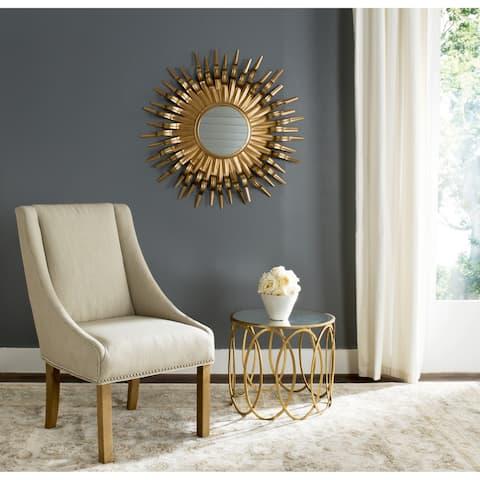"Safavieh Handmade Art Gold Sunburst 36-inch Decorative Mirror - 36"" x 36"" x 1.5"""