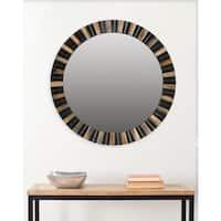 Safavieh Deco Faux Tigers Eye 29-inch Mirror - Black/Gold