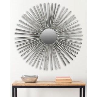 Safavieh Shanira Silver Nailhead 33.5-inch Sunburst Mirror - Antique Silver