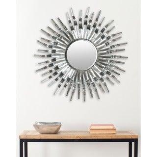 Safavieh Handmade Arts and Crafts Silver 36-inch Sunburst Mirror - Black/Silver