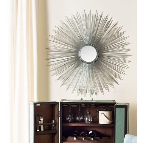 "Safavieh Handmade Art Silver Sunburst 41-inch Decorative Mirror - 40.8"" x 40.8"" x 0.8"""
