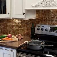 Fasade Traditional Style #6 Backsplash in Bermuda Bronze 18-square-foot Kit