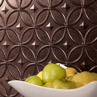 Fasade Rings Smoked Pewter 18 sq. ft. Backsplash Kit