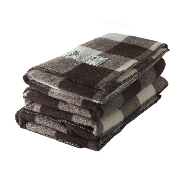 Woolrich 92480 Sherpa Rough Rider Chocolate Throw