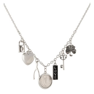 Link to American Coin Treasures Silvertone Irish Coin Charm Necklace - Silver Similar Items in Fashion Jewelry Store