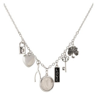 American Coin Treasures Silvertone Irish Coin Charm Necklace