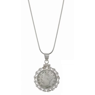 American Coin Treasures Sterling Silver Necklace with Genuine Liberty Nickel
