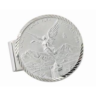 American Coin Treasures Sterling Silver Mexican Libertad 1-ounce Silver Coin Diamond-cut Money Clip